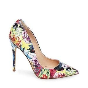 STEVE MADDEN Daisie Floral Multi Pointed Toe Pumps